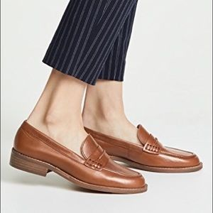Madewell The Elinor Loafer dark Chestnut leather